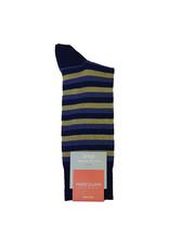 Marcoliani Marcoliani sokken blauw-geel gestreept 4244T