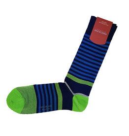 Marcoliani Marcoliani sokken blauw-groen gestreept