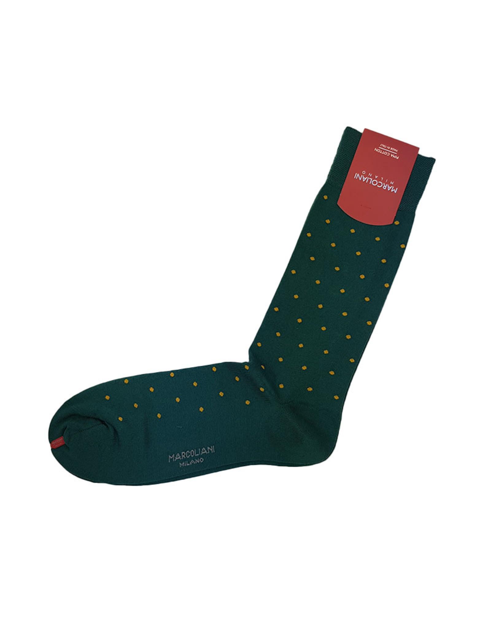 Marcoliani Marcoliani sokken groen gestipt 2776T/040
