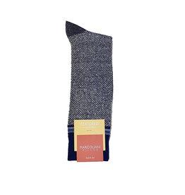 Marcoliani Marcoliani sokken blauw textured