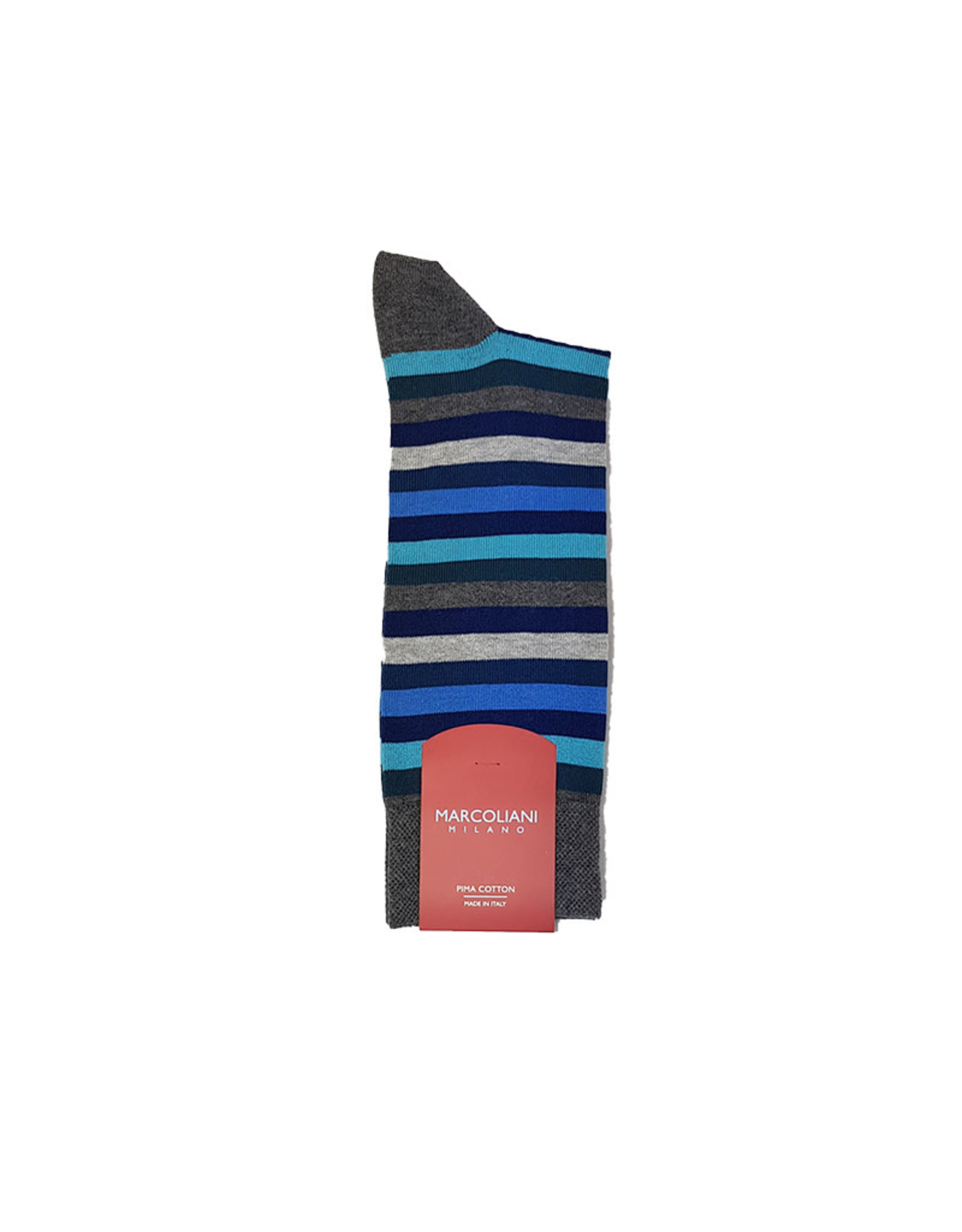 Marcoliani Marcoliani sokken blauw gestreept 4040T/501
