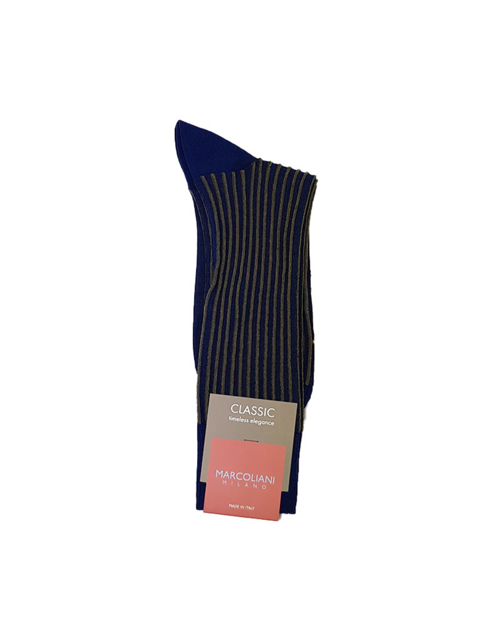 Marcoliani Marcoliani sokken blauw-geel 4236T