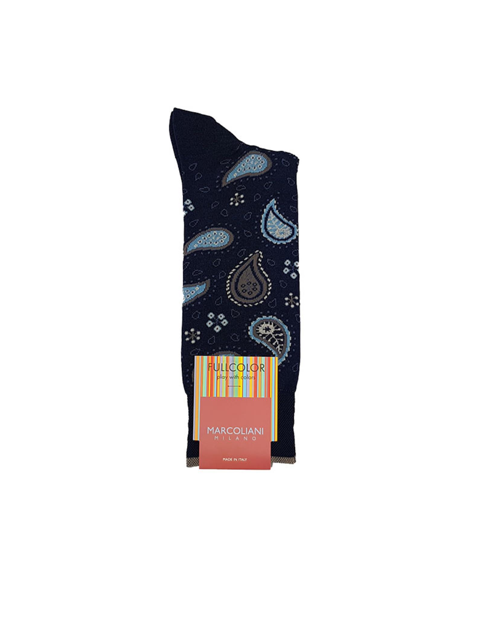 Marcoliani Marcoliani sokken blauw paisley 4353T
