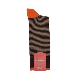 Marcoliani Marcoliani sokken bruin gestreept