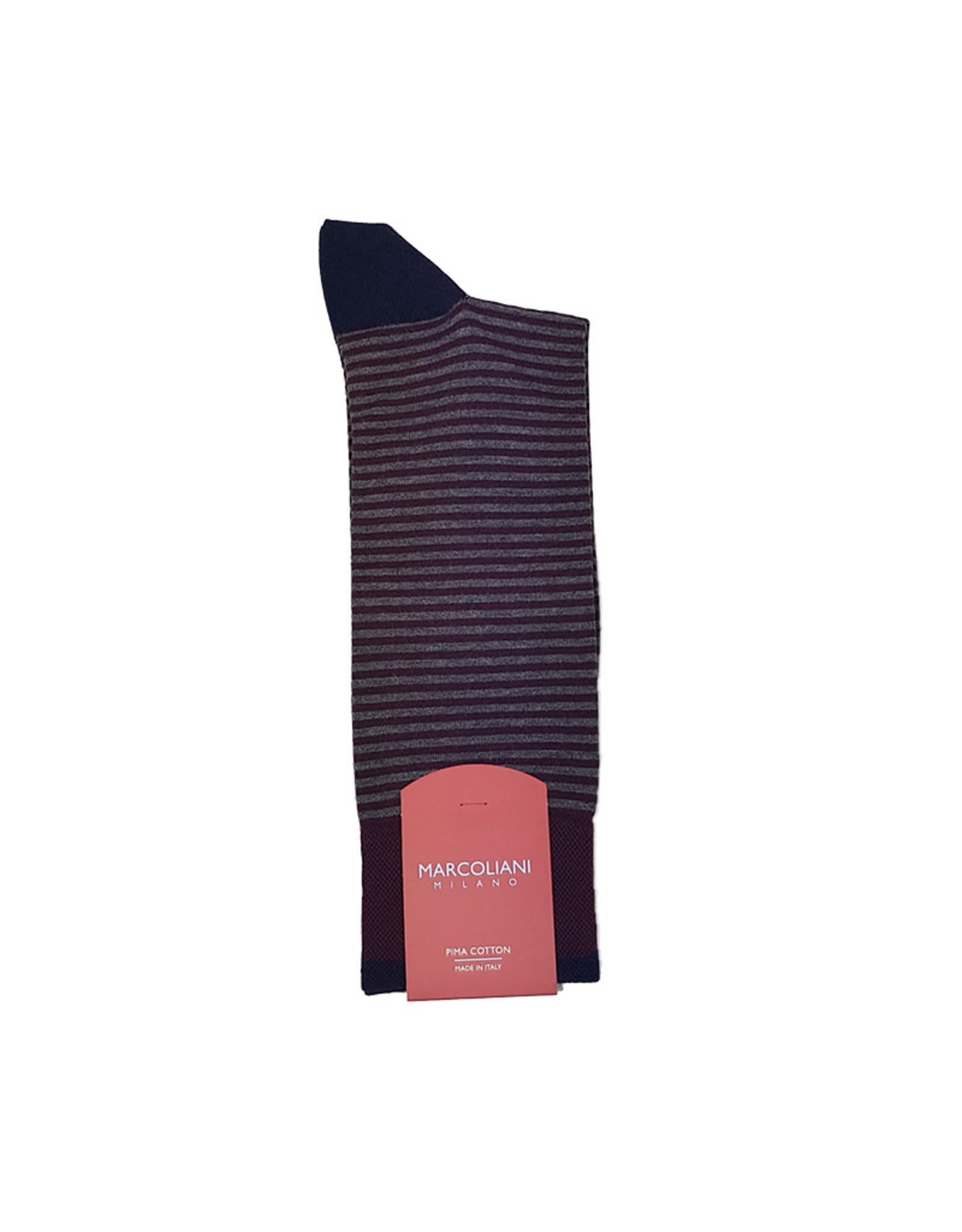 Marcoliani Marcoliani sokken bordeaux-grijs 3231T/283