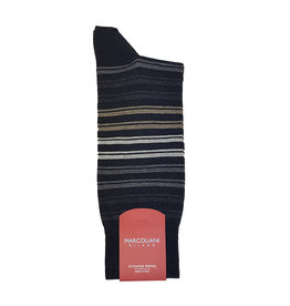 Marcoliani Marcoliani sokken grijs gestreept