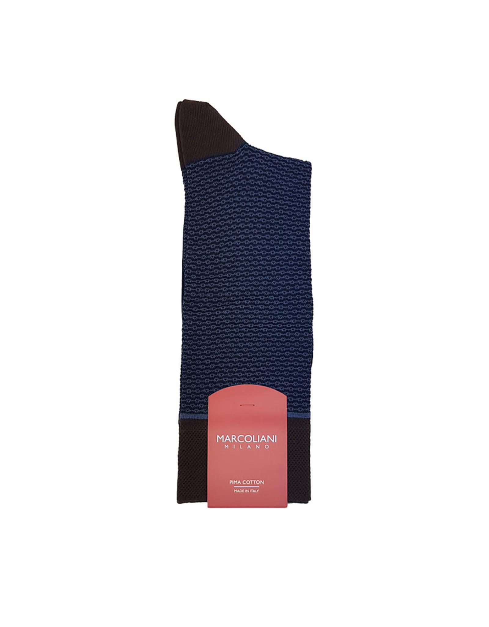 Marcoliani Marcoliani sokken blauw-bruin 4189T/001