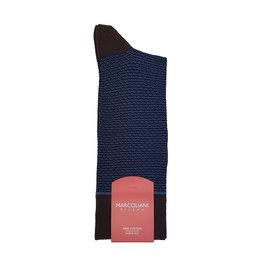 Marcoliani Marcoliani sokken blauw-bruin