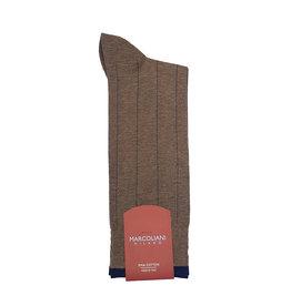 Marcoliani Marcoliani sokken cappucino gestreept