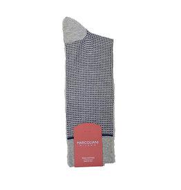 Marcoliani Marcoliani sokken grijs-blauw geruit