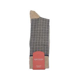 Marcoliani Marcoliani sokken beige geruit