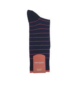 Marcoliani Marcoliani sokken blauw-rood gestreept