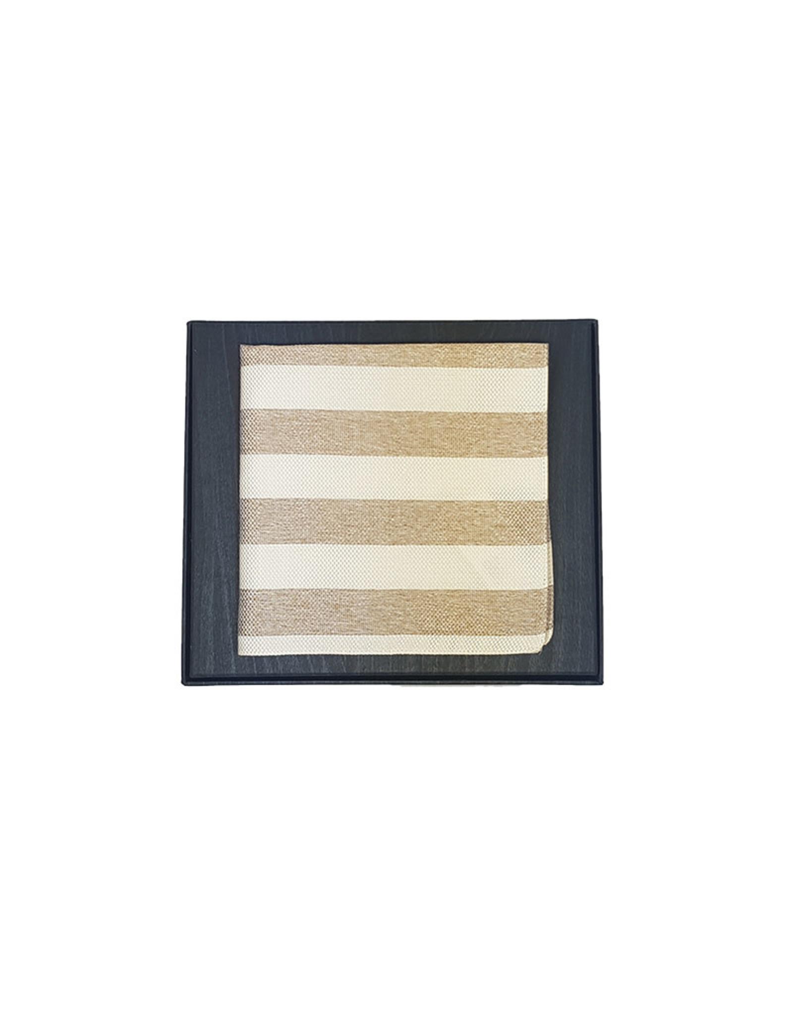 Hemley Sandmore's pochet beige gestreept 14297222