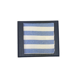 Hemley Sandmore's pochet blauw gestreept