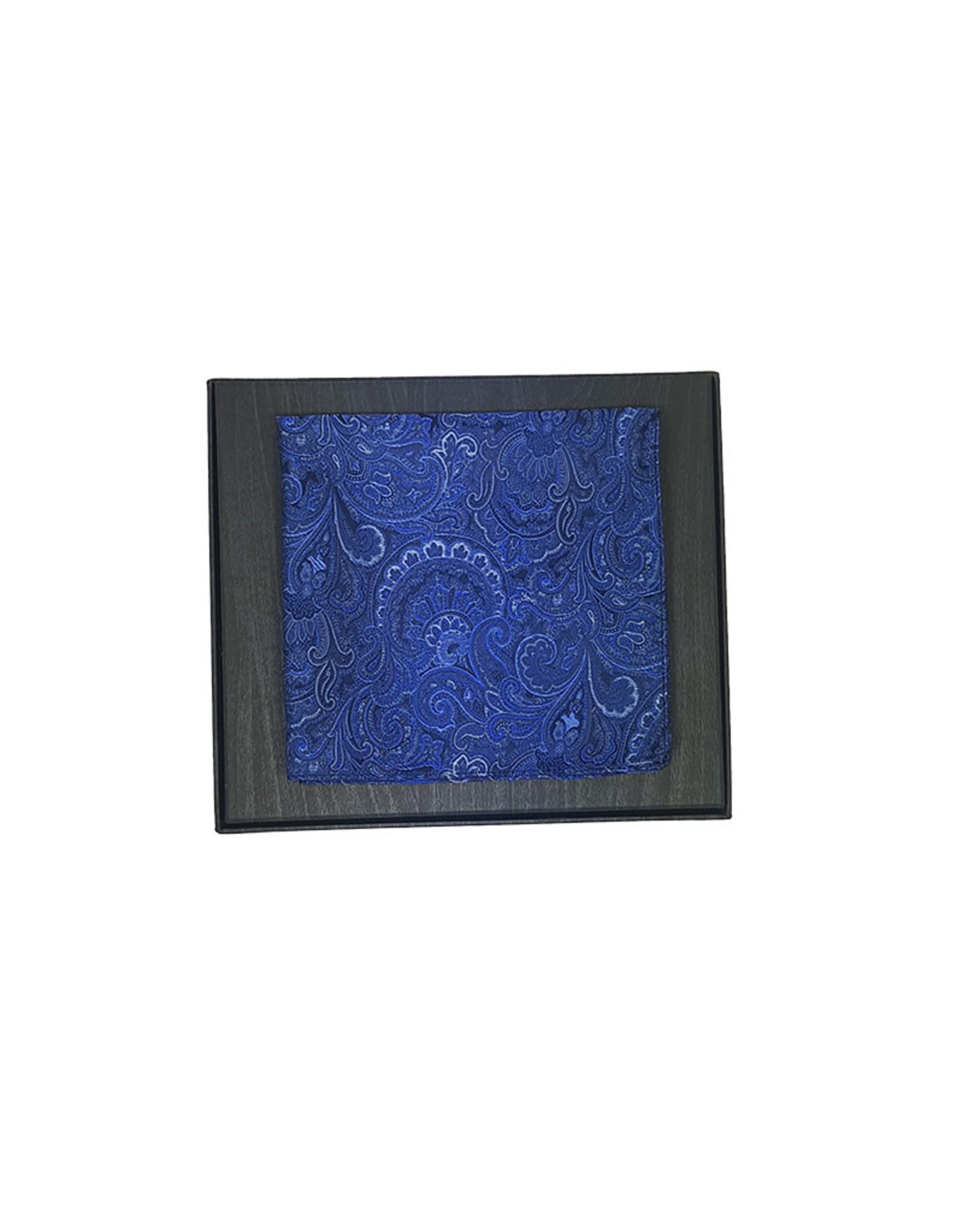 Ascot Sandmore's pochet blauw paisley 14192526/1