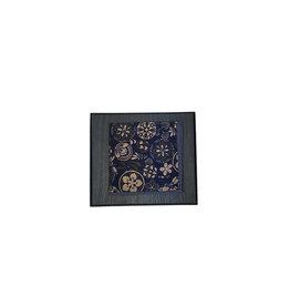 Stenströms Stenströms pochet blauw bloemenmotief