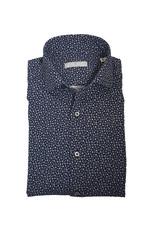 Ghirardelli Sandmore's hemd marine bloemtjesmotief Semi-slim J759/01