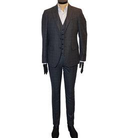 Latorre Gabiati kostuum 3-delig grijs ruit