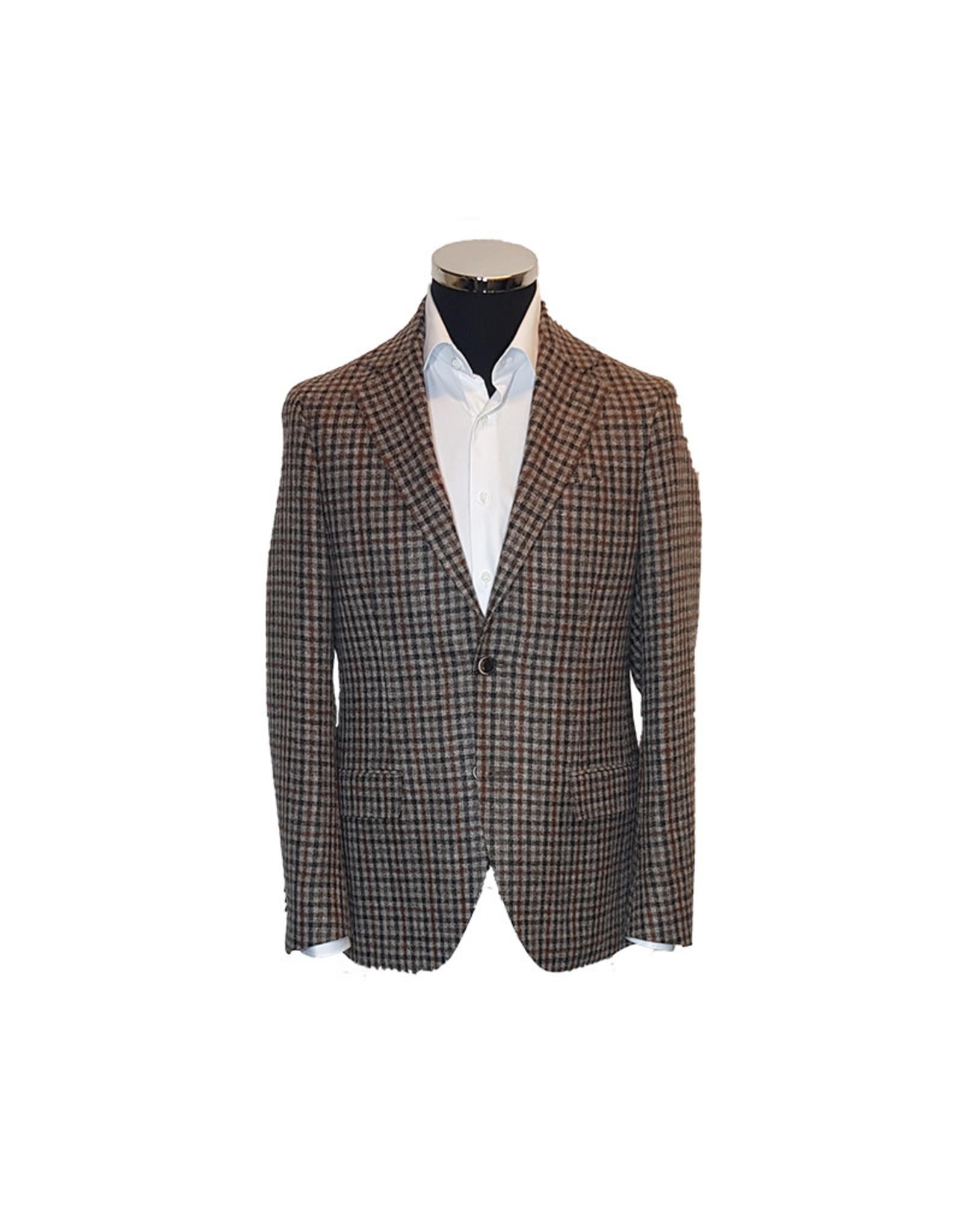 Latorre Gabiati vest beige-blauw ruit Q80543/1