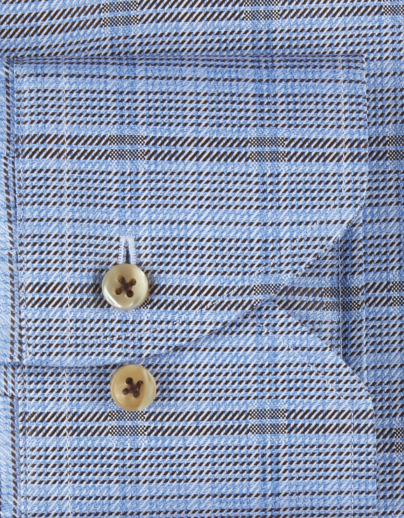 Stenströms Stenströms hemd blauw Slimline 712111-8071/273