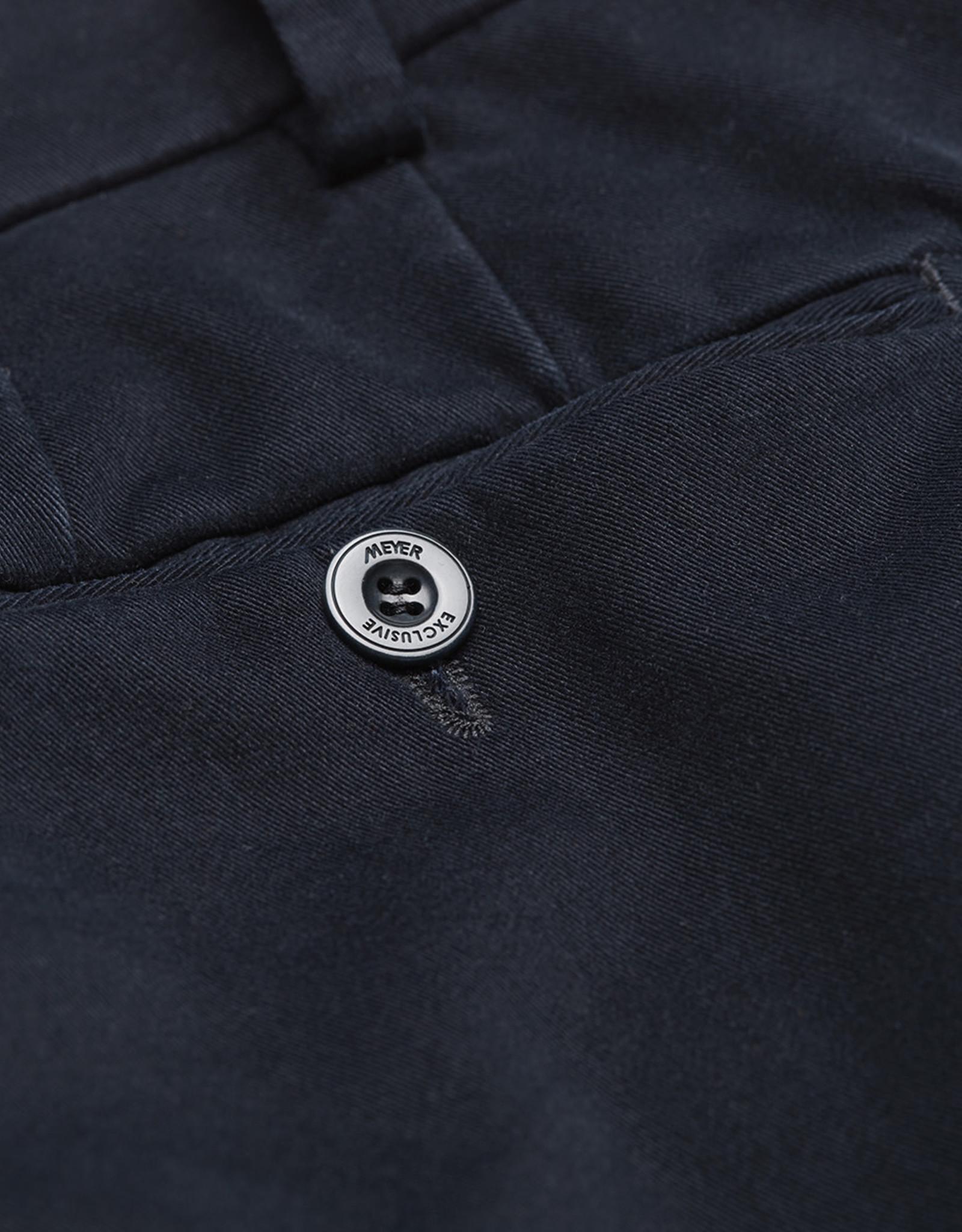 Meyer Exclusive Meyer Exclusive broek katoen marine Bonn 8554/19