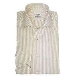 Stenströms Stenströms hemd beige gestreept Fitted body