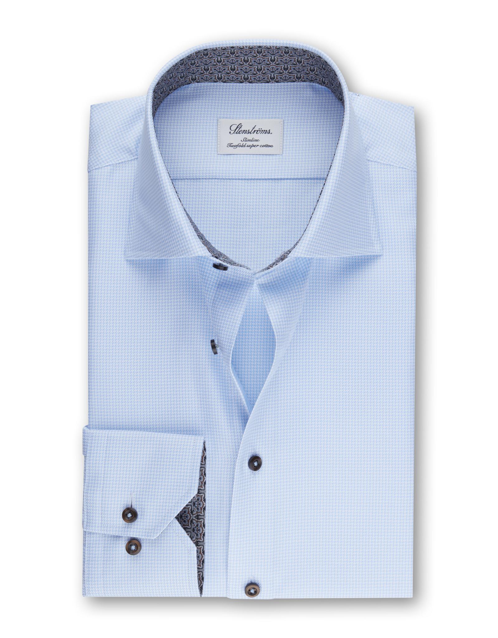 Stenströms Stenströms hemd blauw Fitted body 684771-2319/100
