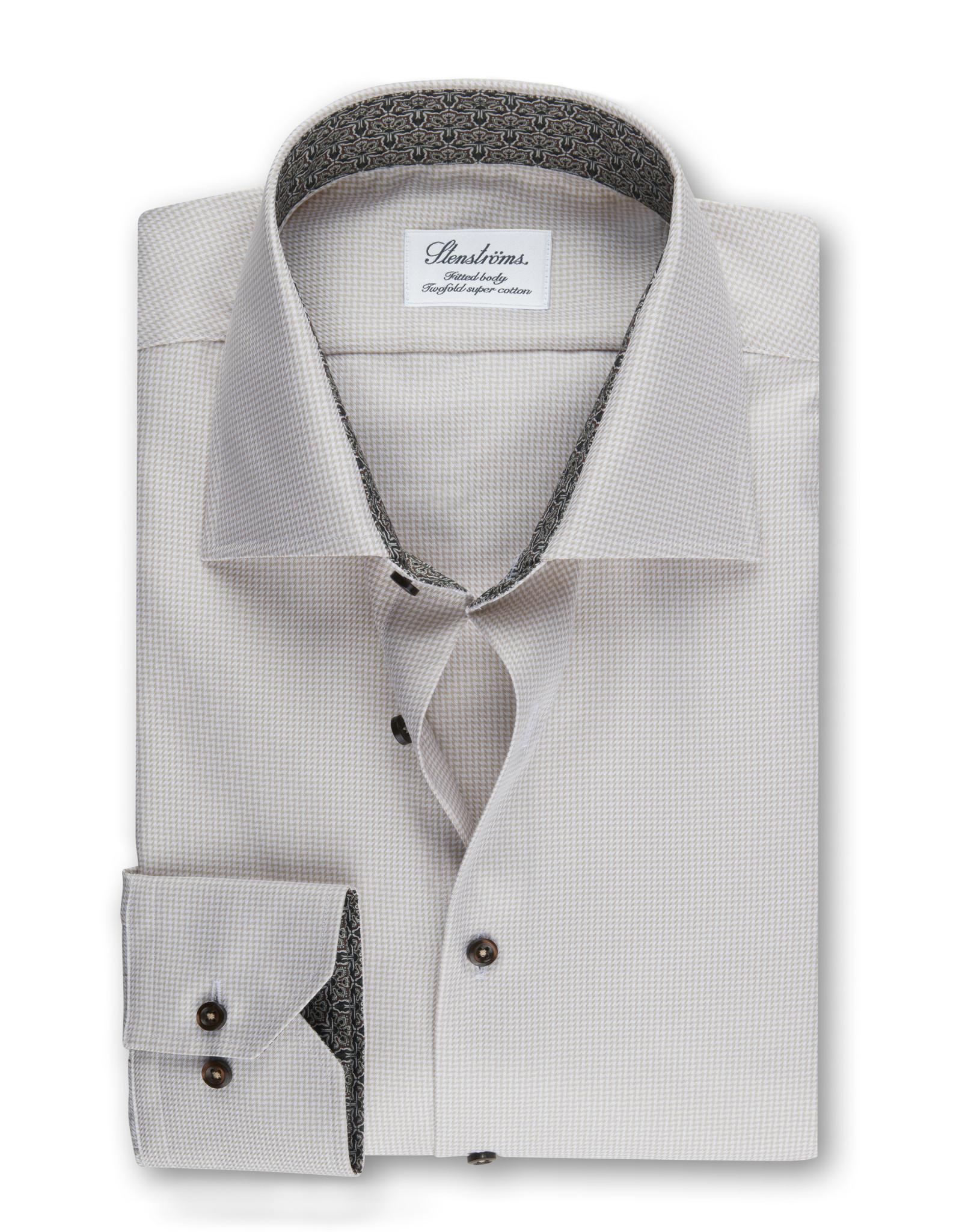 Stenströms Stenströms hemd beige Fitted body 684771-2319/210