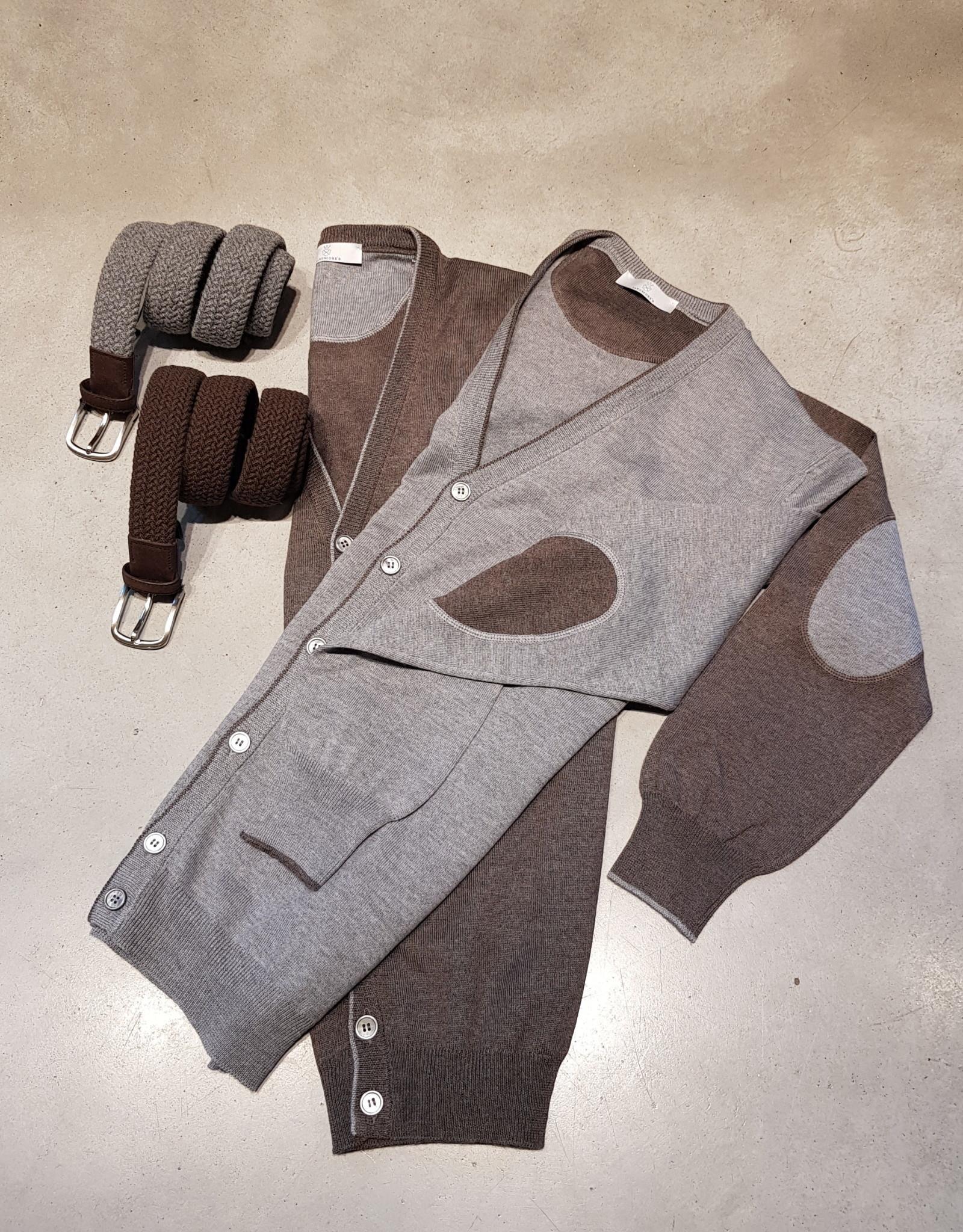 Gran Sasso Sandmore's cardigan grijs 14246/071 M:58184