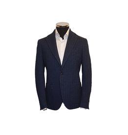 Latorre Gabiati vest blauw visgraat jersey