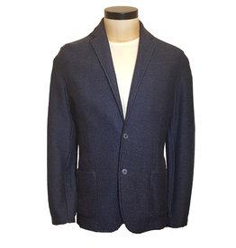 Gran Sasso Sandmore's cardigan blauw visgraat