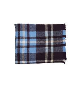 Eton Eton sjaal blauw-paars geruit