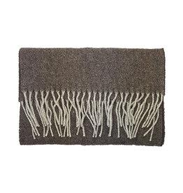 Eton Eton sjaal bruin visgraatmotief