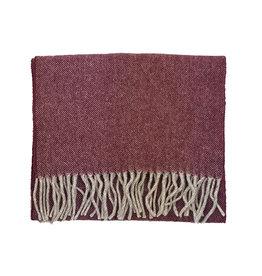Eton Eton sjaal bordeaux visgraatmotief