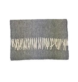 Ploenes Ploenes sjaal grijs visgraat