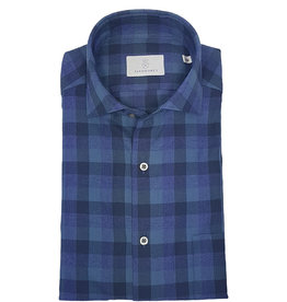 Ghirardelli Sandmore's hemd blauw-paars flannel Fitted body