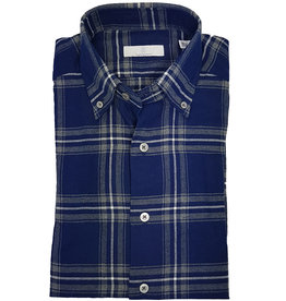 Ghirardelli Sandmore's hemd blauw flannel Fitted body