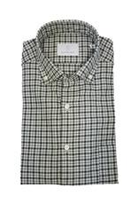 Ghirardelli Sandmore's hemd groen flannel Fitted body N1117