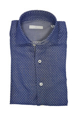 Ghirardelli Sandmore's hemd blauw-wit fantasie Slimline E1507