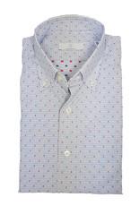 Ghirardelli Sandmore's hemd wit-blauw Slimline C5086/04 P66 A598