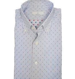 Ghirardelli Sandmore's hemd wit-blauw Slimline