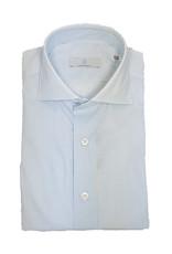 Ghirardelli Sandmore's hemd wit-lichtblauw Slimline C5036/01 P66 A598