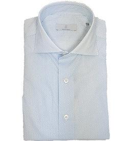 Ghirardelli Sandmore's hemd wit-lichtblauw Slimline