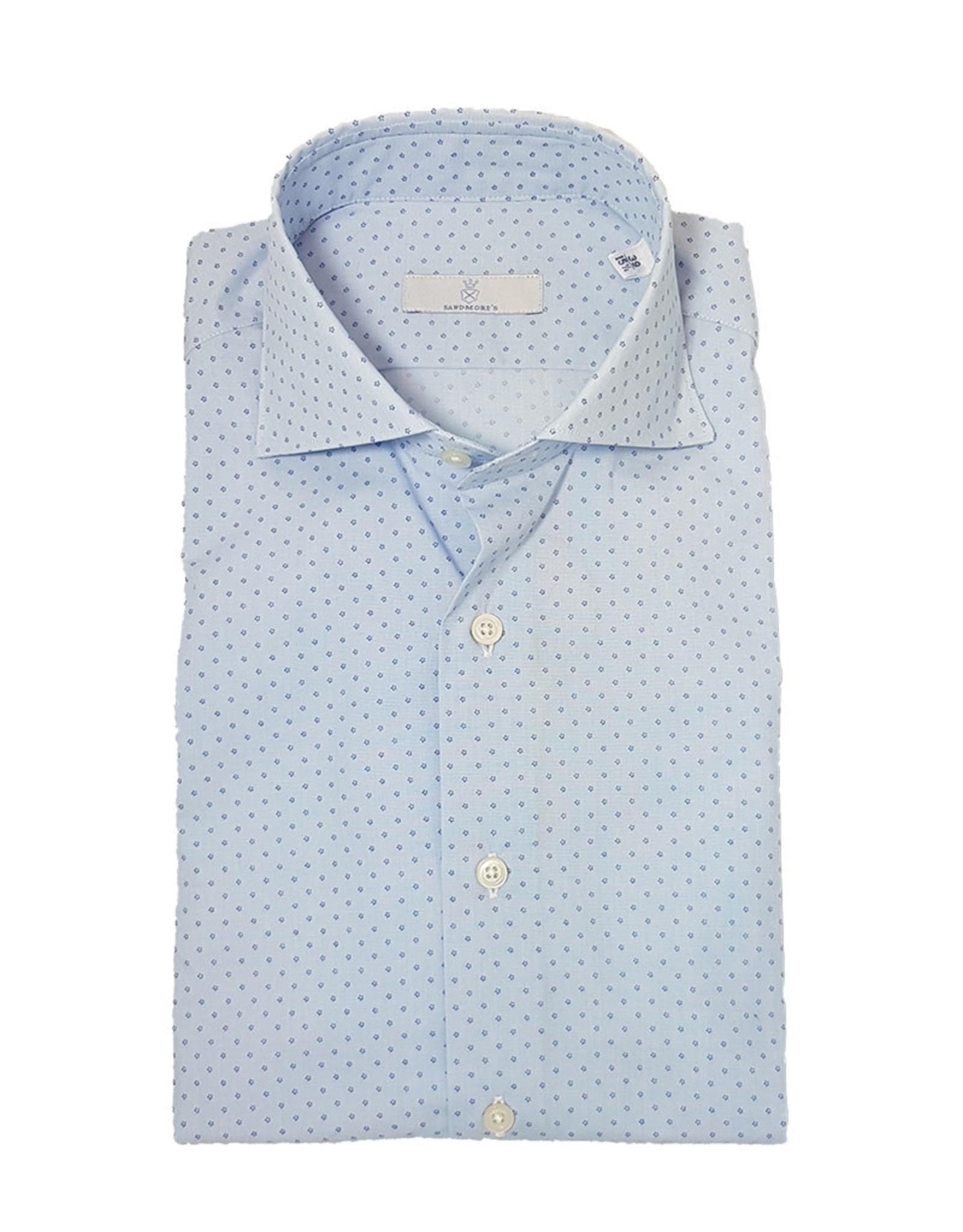 Ghirardelli Sandmore's hemd lichtblauw Slimline C5104/01 P66 A598