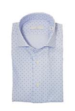 Ghirardelli Sandmore's hemd lichtblauw fantasie Slimline E1088/02 P66 A741