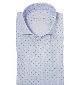 Ghirardelli Sandmore's hemd lichtblauw fantasie Slimline