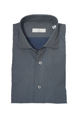 Ghirardelli Sandmore's hemd marine-beige Slimline E1109