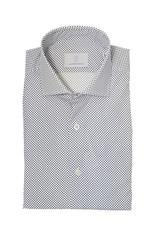 Ghirardelli Sandmore's hemd wit-marine Slimline  F4116/02 P66 B741