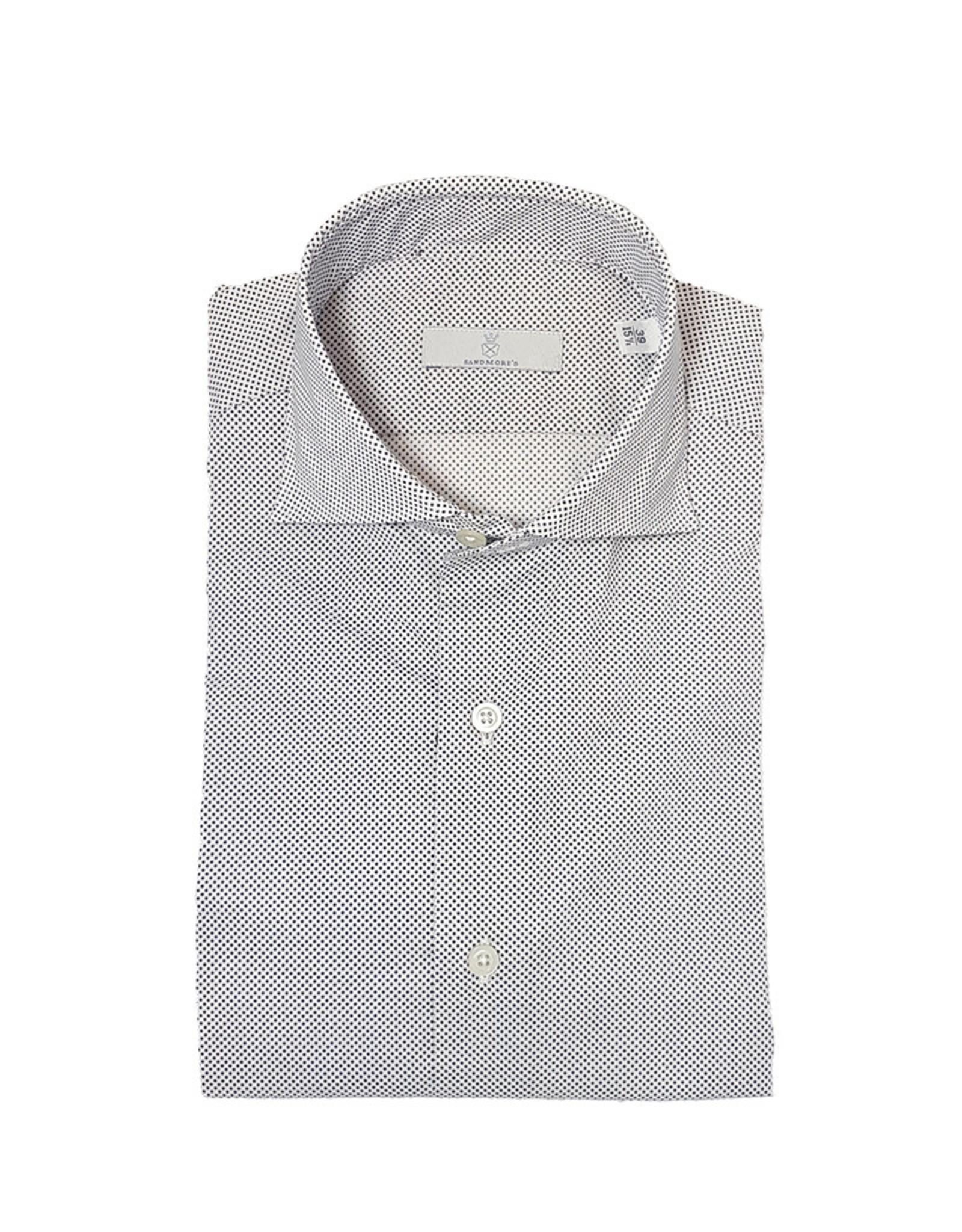 Ghirardelli Sandmore's hemd wit met marine stipjes  C5102/03 P66 A598