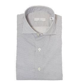 Ghirardelli Sandmore's hemd wit met marine stipjes
